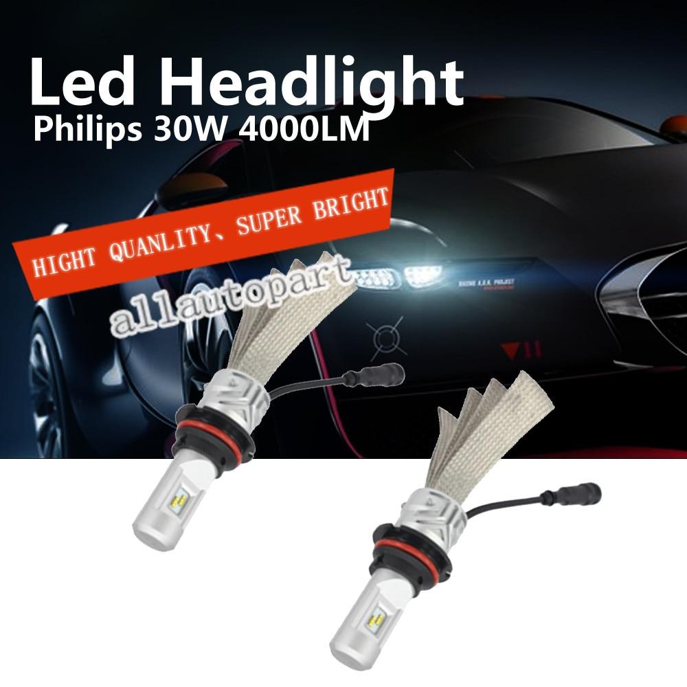ФОТО New Promotion 72W 9004 5s Led Headlight Bulb Car Driving Headlamp 9007 Led Bulbs 4000LM 36W Each Lamp 6000K Car Light Sourcing
