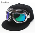 YanMan 2017 Fashion Aviator Baseball Cap Kids Pilot Air Force Hat Boys Girls Hip Hop Snapback Caps With Glasses casquette gorras