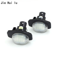2X Car LED License Plate Lights 12V 3528 SMD Number Plate Lamp For Toyota Corolla Auris