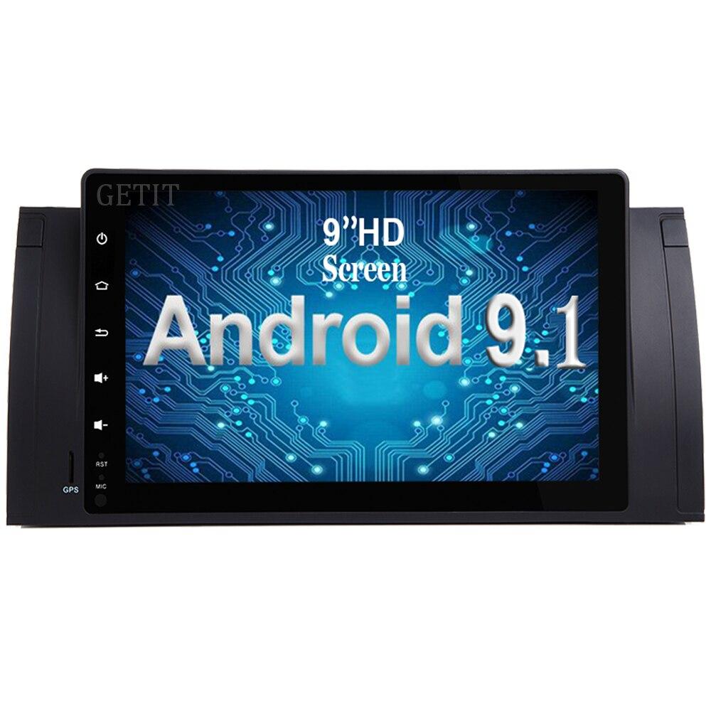 9 pouces Android 9.1 dans le multimédia stéréo DVD de voiture de tableau de bord pour BMW série 5 E39 E53 M5 avec la Radio BT Wifi GPS unité de tête de voiture