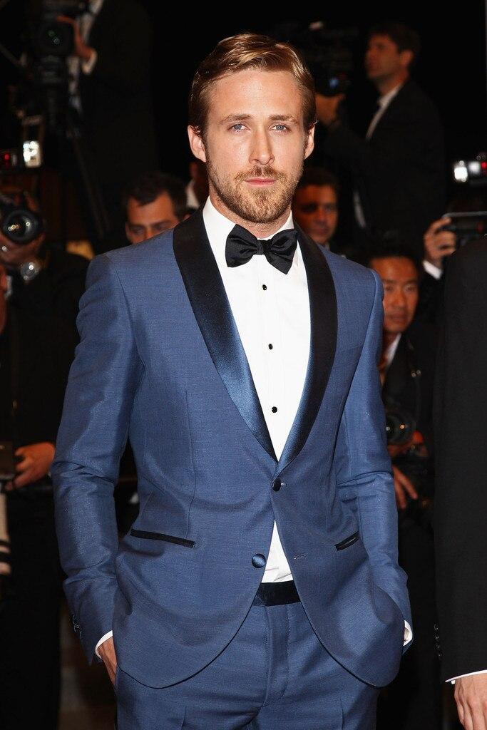 2018 мужской модный деловой костюм, шерстяное платье, смокинг, деловой костюм (пиджак + брюки + жилет + галстук + рубашка), синие мужские костюмы