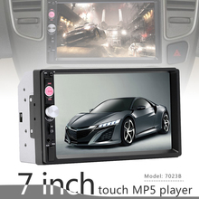 все цены на 7 Inch 2 DIN Bluetooth In Dash HD Touch Screen Car Video FM Radio Stereo Player Aux In Rearview Camera for PHone Mirror Link онлайн