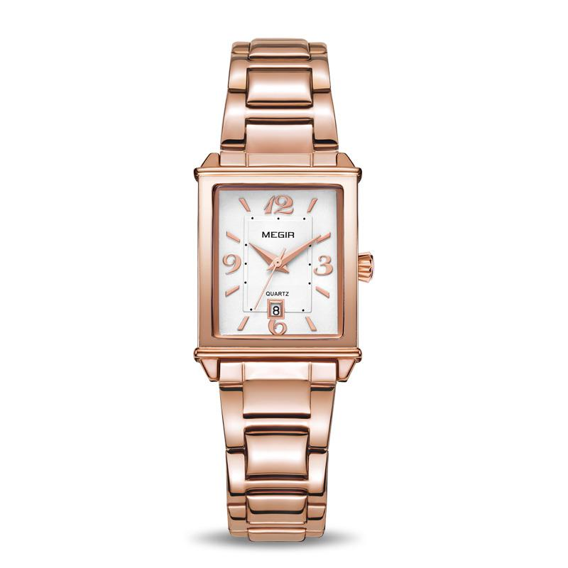 Ladies Watches Rose Gold Luxury Women Bracelet Watch For Lovers Fashion Girl Quartz Wristwatch Clock Relogio Feminino Rectangle meibo brand fashion women hollow flower wristwatch luxury leather strap quartz watch relogio feminino drop shipping gift 2012