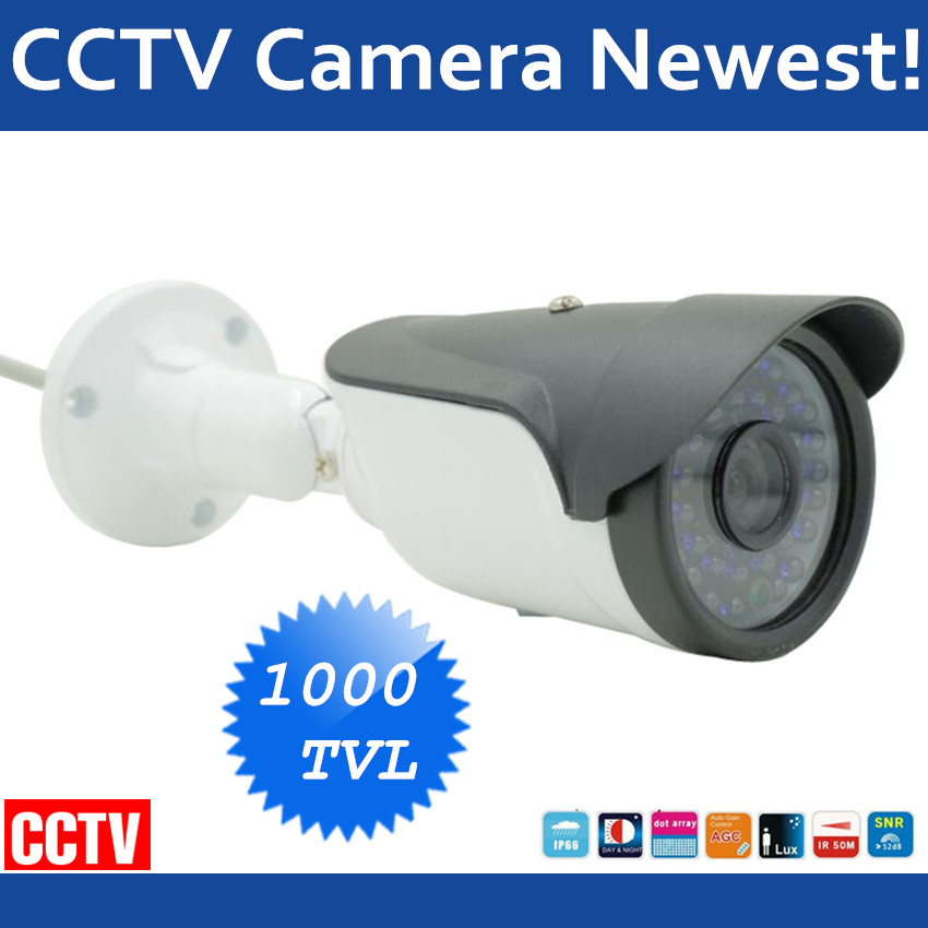HD Video Surveillance Camera Waterproof Bullet CCTV Camera 1000tvl Sony CCD Outdoor Home Security Camera