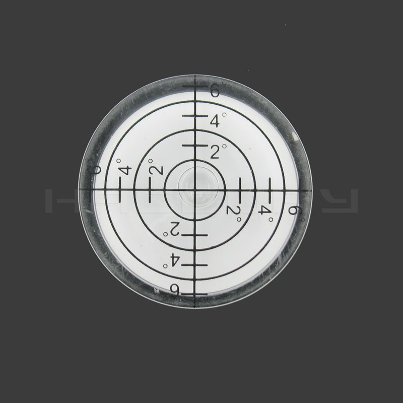HACCURY White Color Plastic Bullseye Bubble level wiht ticks Round Level Bubble Accessories for measuring instrument|Level Measuring Instruments|Tools - title=