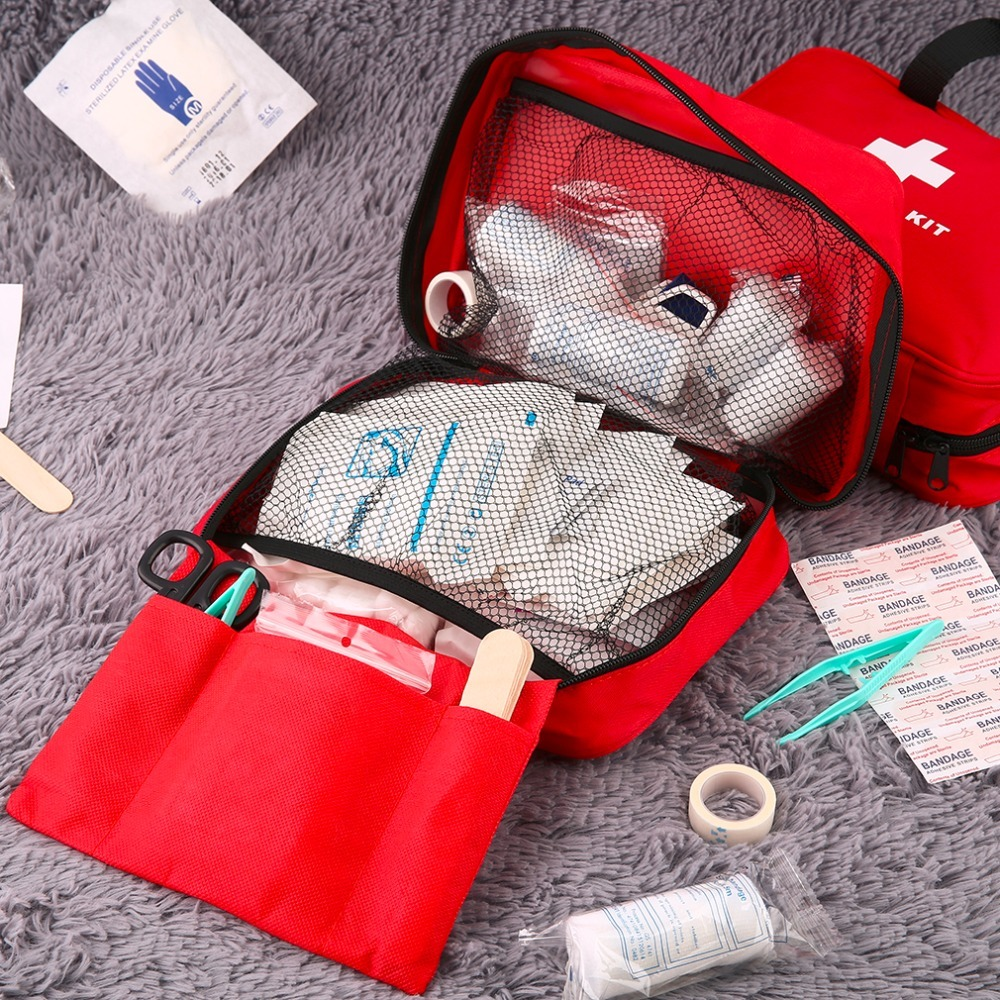Promotion First Aid Kit Big Car First Aid kit Large outdoor Emergency kit bag Travel camping survival medical kits in Emergency Kits from Security Protection