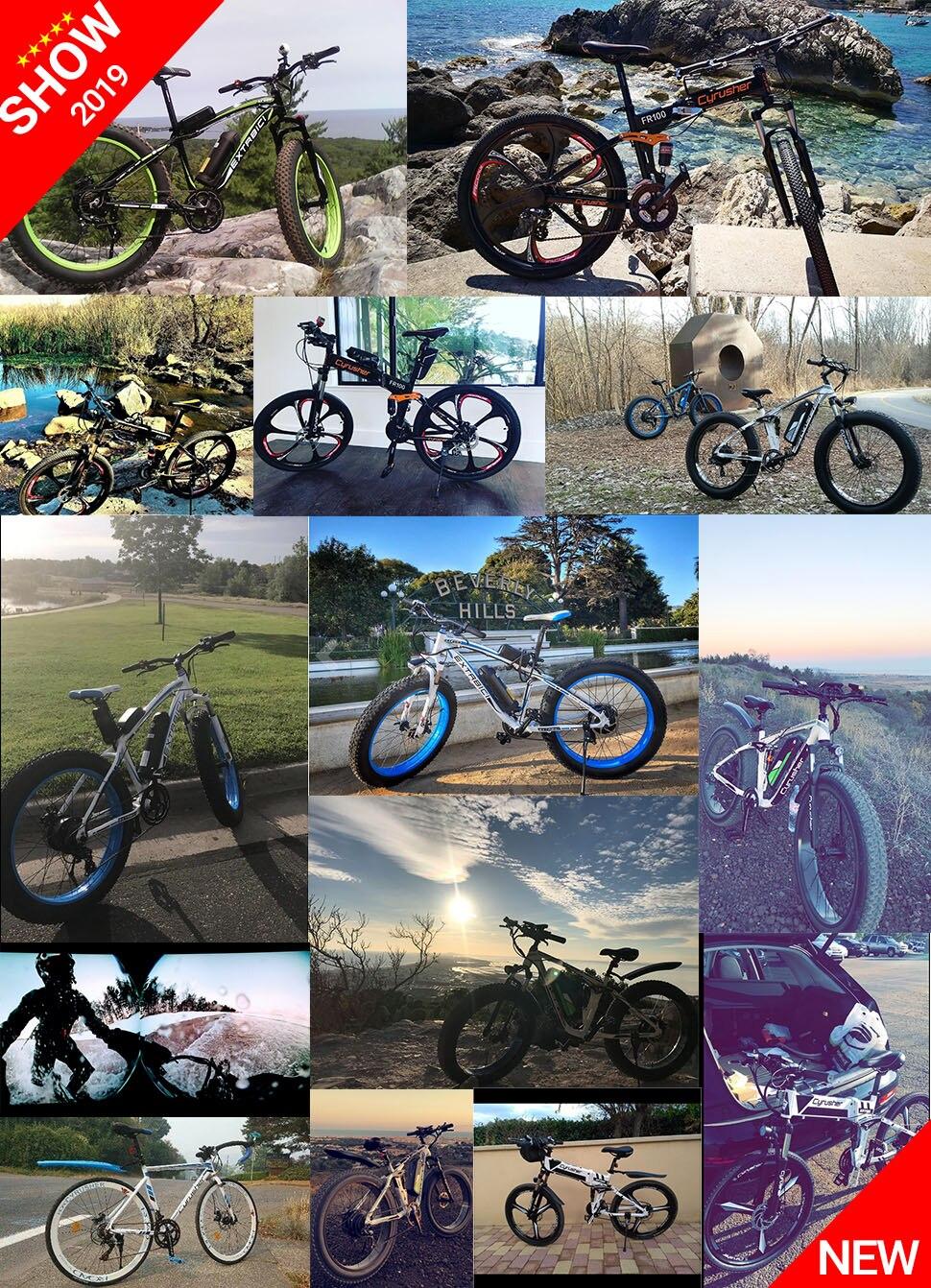 HTB1cwZzM4TpK1RjSZR0q6zEwXXav - Cyrusher XF800 1000W 48V Electrical Bike Full Suspension body 7 Speeds widewheel highway Bike out of doors sensible speedometer Ebike