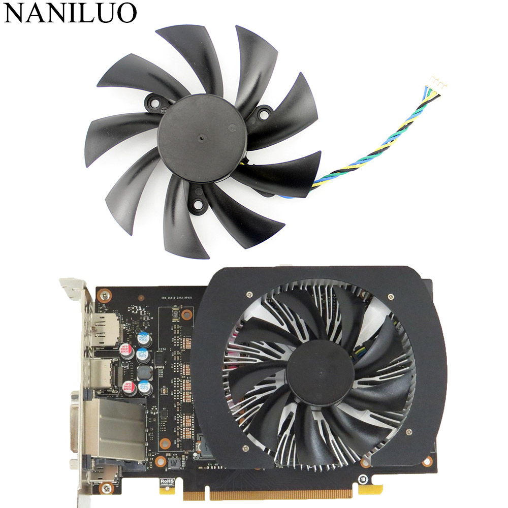 New 87mm DC 12V 4Pin VGA Cooler Fan Replacement For Zotac GTX1060 6Gb GTX 1060 3GB Mini Graphics Video Card image