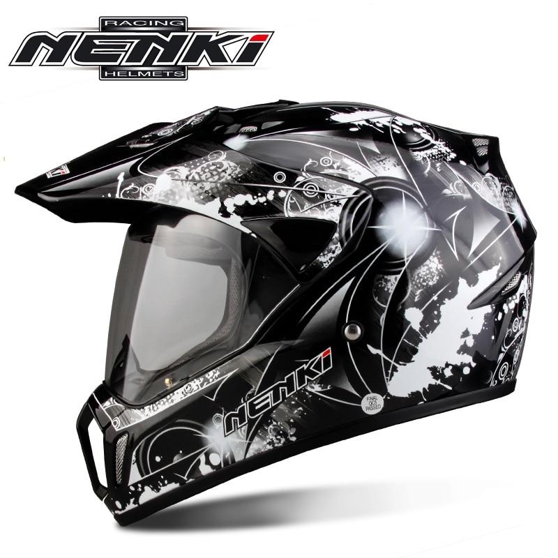 Nenki Brand Motorcycle capacete Motocross helmet  Moto Bike casco with Shield lens Casque MX310