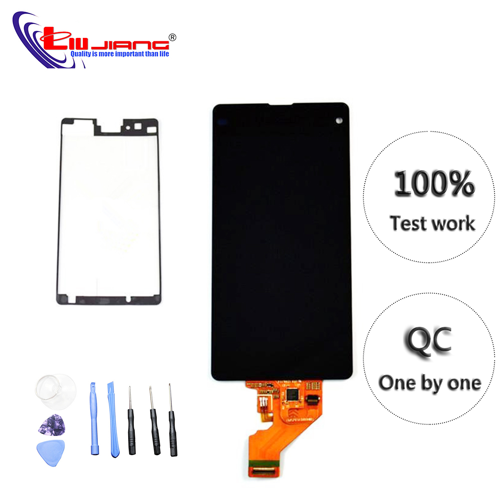 Liujiang Affichage D'origine Pour SONY Z1 Compact Z1 Mini M51w D5503 LCD Affichage à L'écran Tactile Digitizer Assemblée avec Cadre Pièces