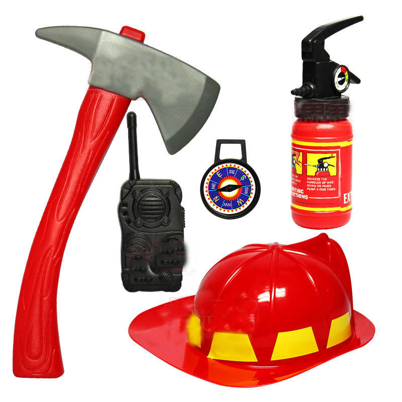 5pcs/ Set Kids Play Firefighter Toy Fireman Helmet Fire Rescue For ChildrenS Tools Learning Toy5pcs/ Set Kids Play Firefighter Toy Fireman Helmet Fire Rescue For ChildrenS Tools Learning Toy
