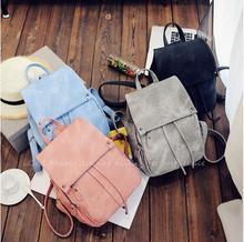 Женские PU рюкзак моды случайные рюкзак сплошной цвет в духе колледжа студент школьная сумка дорожная сумка