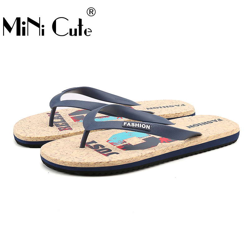 ebd5f93f3a61c0 2017 New Fashion Flip Flops Mens Pu Leather Sandals Light Beach Slipper Men  Summer Shoes Brown Blue Green Outdoor Non Slip Shoe-in Slippers from Shoes  on ...
