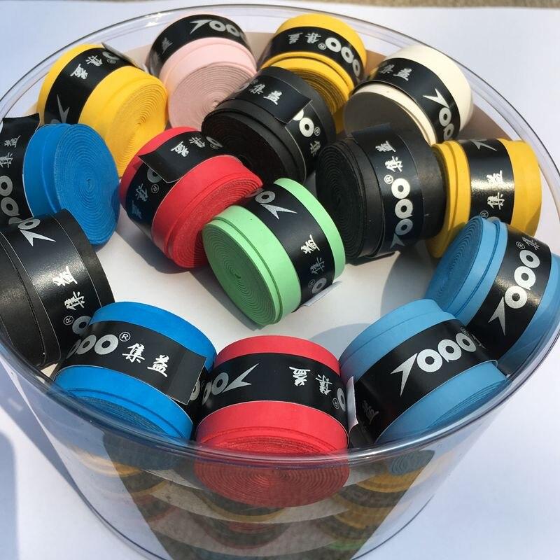 Topo pu-02 Сухой чувство Бадминтон ракетка Overgrip, теннис овергрипы, сцепление теннис (разных цветов) 60 шт. Бесплатная доставка