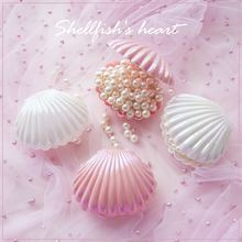 5pcs Simulation shell decoration Props Photo pearl storage candy box party supplie  home accessories