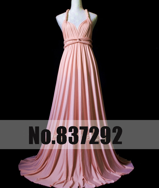 548dc035954 New Arrival 2014 Hot Sell Plus Size Bridesmaid Dresses Wrap Convertible  Baby Pink Infinity Dress Sexy Jersey Dress Formal Dress