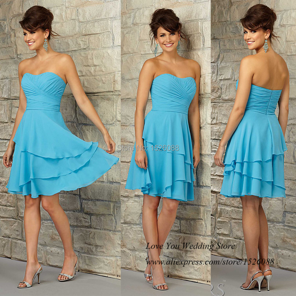 Cheap Country Style Turquoise Bridesmaid Dresses for Girls Weddings ...