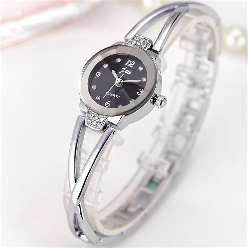 New Brand Women Watches Alloy Crystal Wristwatches Ladies Dress Watches Gift Women Gold Fashion Luxury Quartz Watch Female Clock