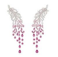 2017 Brincos QI Xuan_Fashion Jewelry_customized Роскошные розовый камень партия кисточкой Earring_s925 одноцветное Earring_Factory непосредственно распродажа