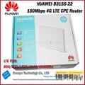 Brand new original unlock 150 mbps huawei b315 4g lte router con ranura para tarjeta sim y puerto lan rj11