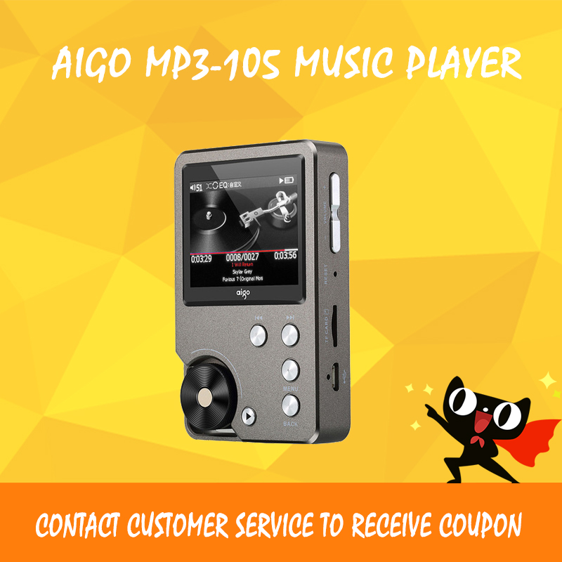 Aigo MP3-105 mp3 player dsd dac portable lossless hi fi music players mini sports flac player цена и фото