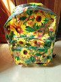 New &Unique Women Transparent Clear Backpack PVC Student Bag Campus School Book Sun Flower Printed Shoulder Bags For Girls