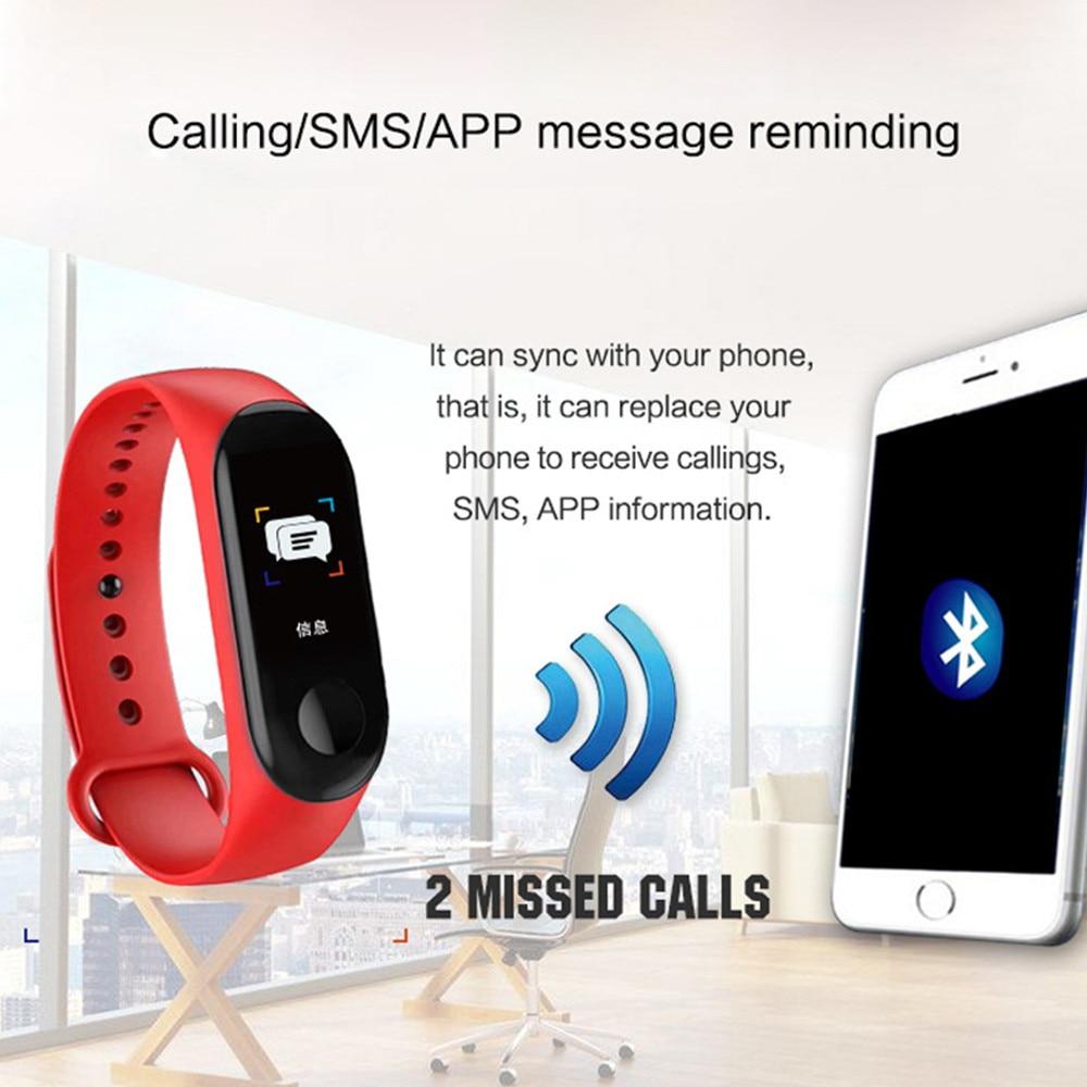 HTB1cwaja21H3KVjSZFHq6zKppXa3 M3 Smart Watch Bracelet Band Fitness Tracker Messages Reminder Color Screen Waterproof Sport Wristband For men women