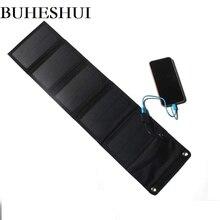 BUHESHUI 10 Вт 5 В складной Панели солнечные Зарядное устройство Портативный Солнечный Батарея Зарядное устройство s Зарядка для телефона Пеший Туризм на открытом воздухе Бесплатная доставка