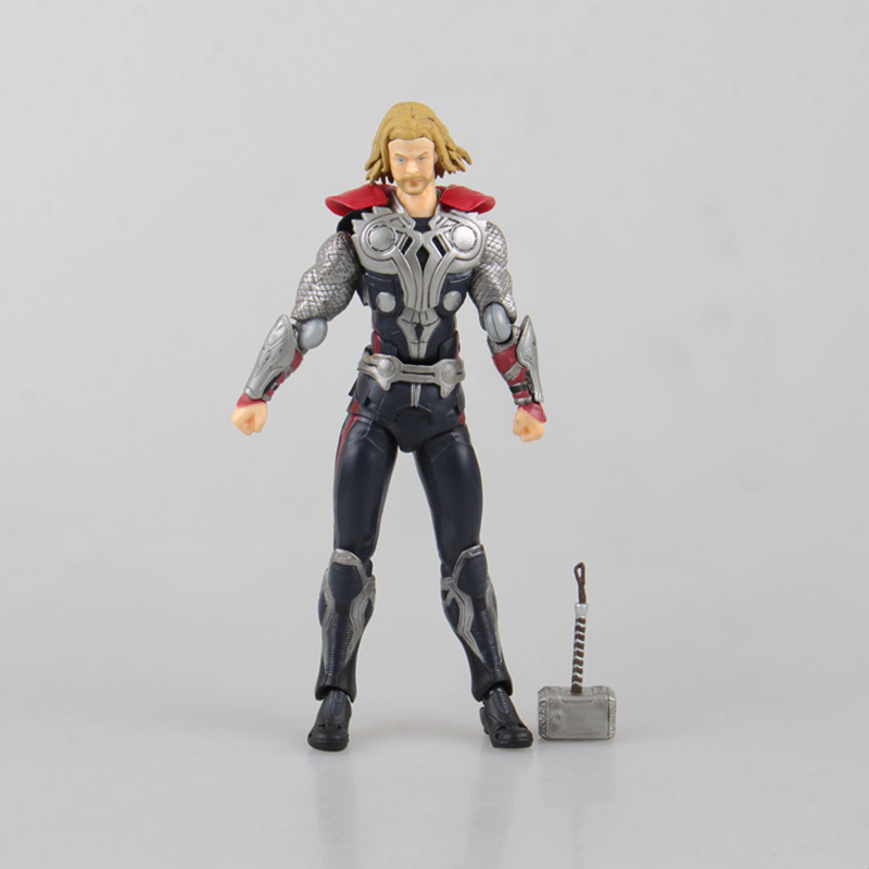16cm Thor Figma 216 Juguetes PVC Action Figure Thor Hammer Brinquedos Collectible Model Kids Toys Doll rmdmyc metal gear solid v action figure toys 16cm mgs snake figma model collectible doll mgs figma figure kids brithdays gifts