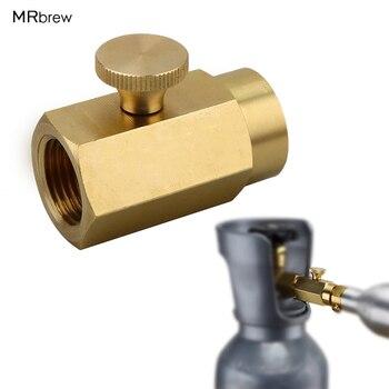 CO2 Refill Soda przejściówka do butli Soda nadmuchiwany konwerter zaworu do interfejsu W21.8-14