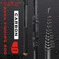 Карбоновая Рок Удочка 2 7-6 3 м жесткая телескопическая черная Удочка пресноводная мощная Рыболовная Снасть подарок для папы и друга