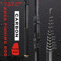 Carbon rock angelrute 2 7 6 3 mt harte teleskop schwarz pol süßwasser leistungsstarke angelgerät geschenk für papa und freund-in Angelruten aus Sport und Unterhaltung bei