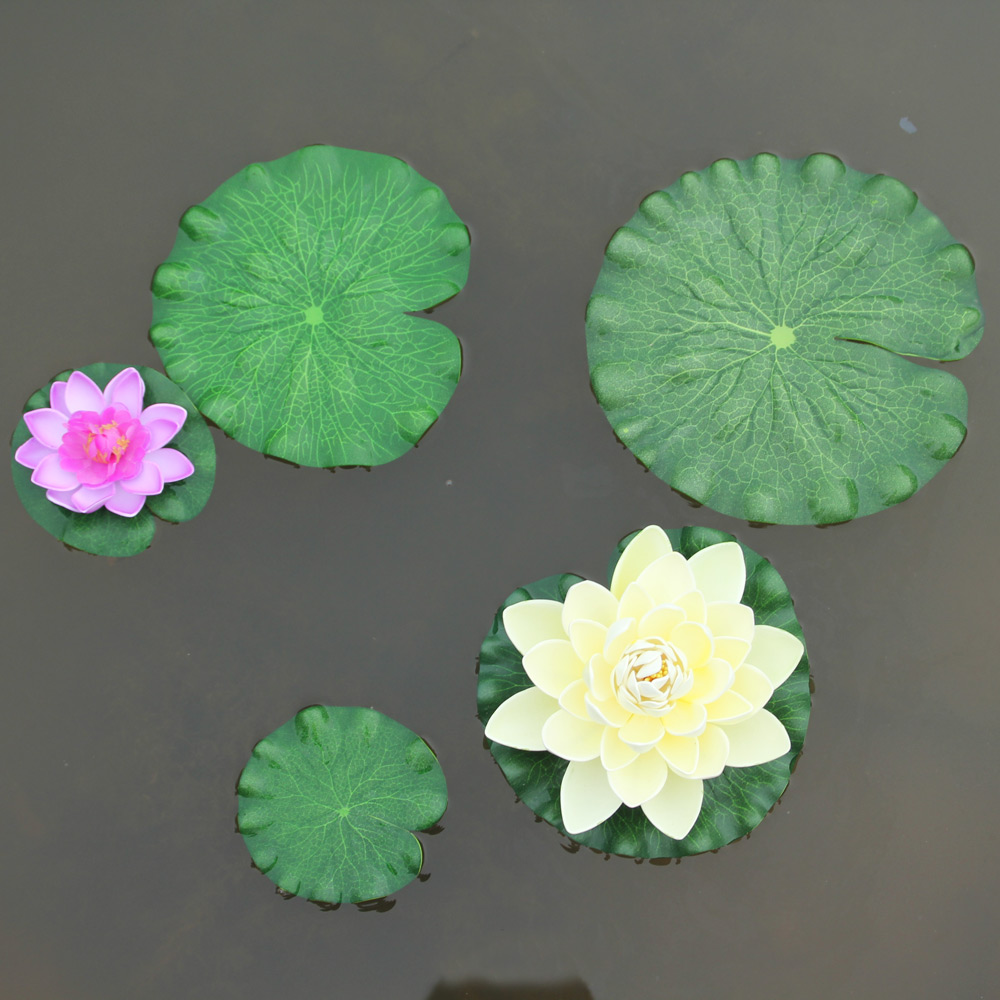 Compare prices on lotus flower craft online shoppingbuy low free shipping artificial lotus leaf water lilies flowersfake plants for wedding party home decoration gift craft dhlflorist Image collections