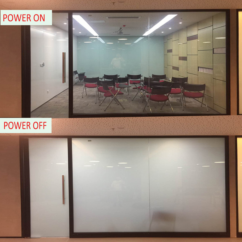 Film de verre de bâtiment d'intimité de film intelligent de teinte de fenêtre magique avec le pouvoir