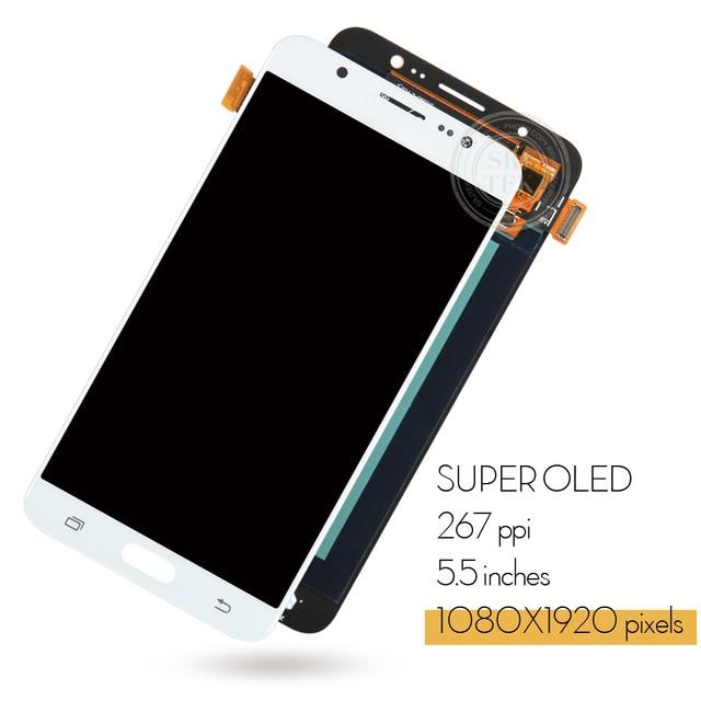 Srjtek 5.5 AMOLED pour Samsung Galaxy J7 2016 J710 J710F J710M J710G LCD affichage numériseur écran tactile capteur pièces de rechange