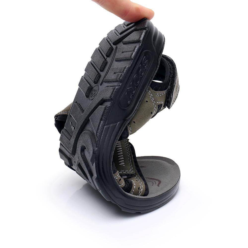 Image 5 - Apakowa Big Boys Summer Peep toe Ankle Strap Sandals Older Kids Beach Walking Travelling Sports Trainer Sandals Outdoor FootwearSandals   -