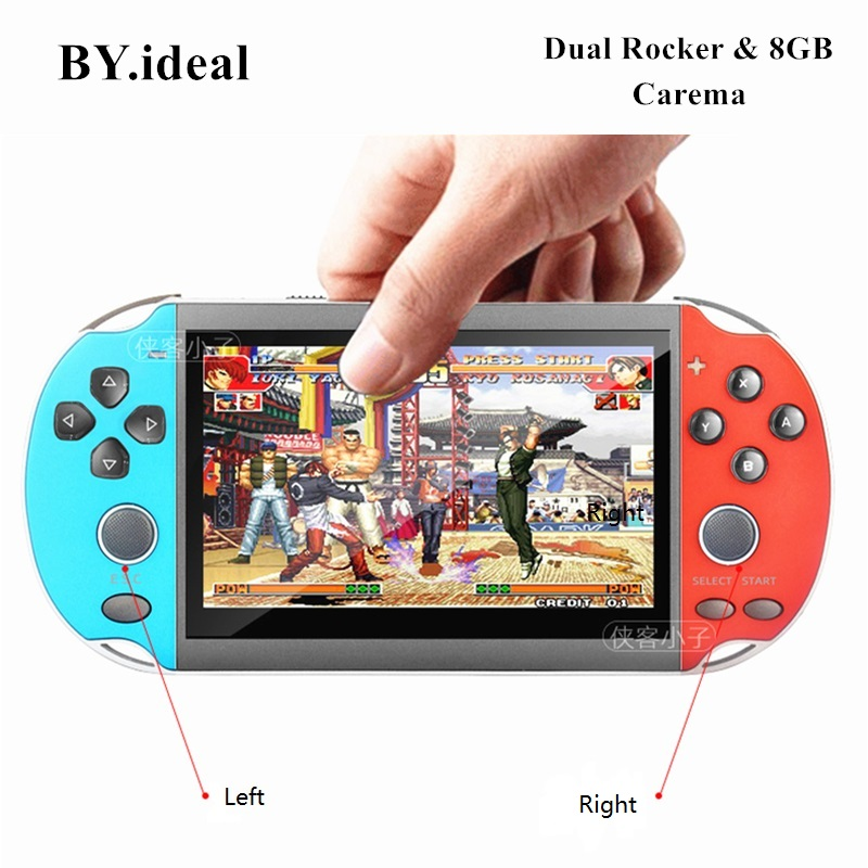 Handheld Game Console Dual Rocker 29 Multi languages 8G MP4 Player support TV Out Free Download