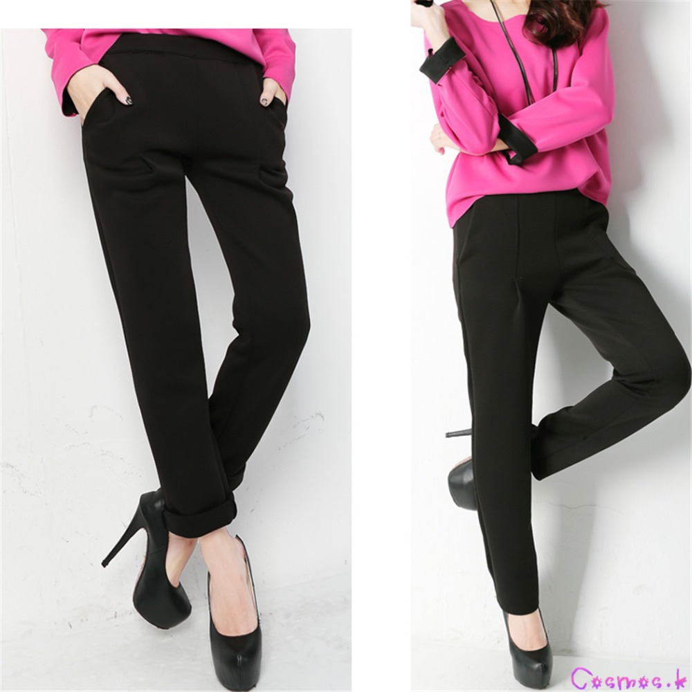 Aliexpress.com : Buy Fashion Women's Black Dress Pants Slim Suit ...