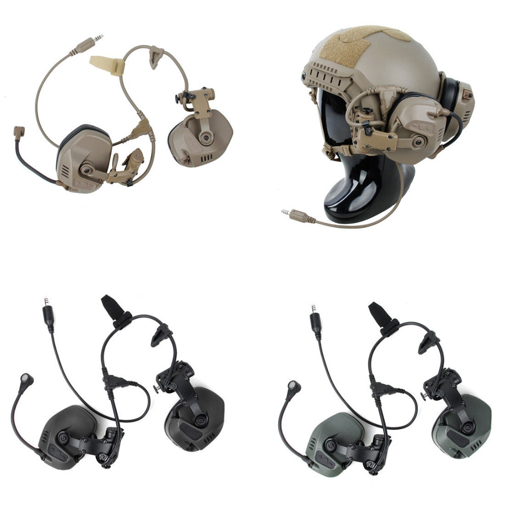 Pottery & Glass Obliging Tactical Rac Headset For Fast Maritime Sf Highcut Sentry Helmet Arc Guide Rail Complete Range Of Articles