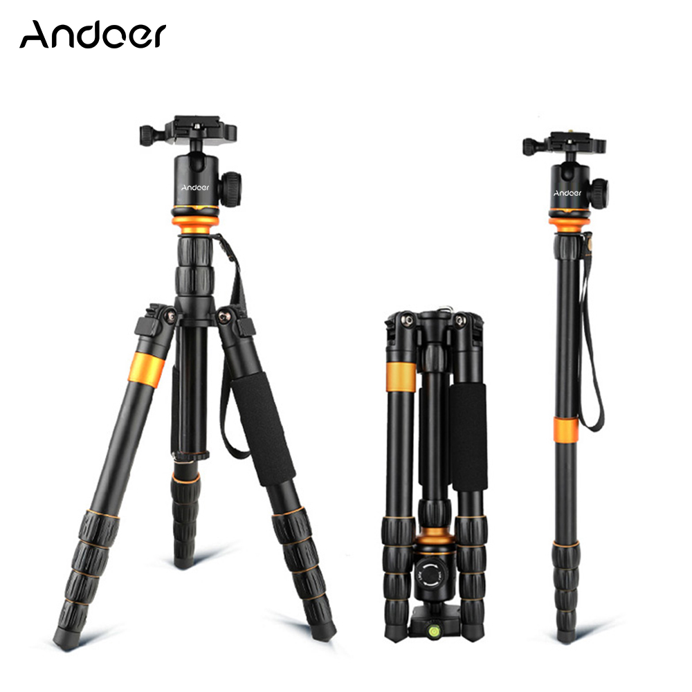 Andoer Professional Camera Tripod Foldable Detachable Adjustable Photography Digital Camera Camcorder Tripod Monopod Ball Head