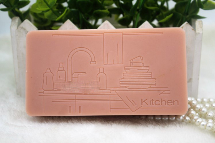 Silicone mold square shape soap for kitchen hand made font b food b font grade silicone