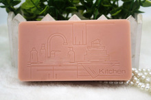 Silicone mold square shape soap for kitchen hand made food grade silicone soaps mould aroma stone