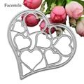 Metal Hollow Heart Frames Design Die Cutting Dies DIY Stencil Scrapbooking Decoration Embossing Folder Fustella Big Shot Sizzix