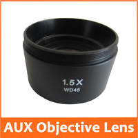 1.5X Auxiliary Attachment Objective Lens for Stereo Microscope Components Parts Accessories
