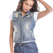 Women Short Denim Jackets Broken Jackets Spring Autumn Coat for Women Broken Hole Short Denim Female jackets for women