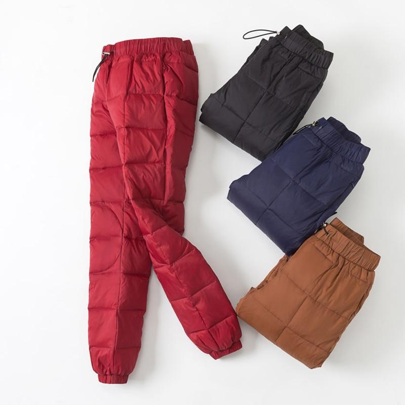 Mujeres navy Pantalones Cintura Casuales Deportes Jvzkass red Desgaste Pies Black Z232 Abajo caramel Gruesa Delgado Caliente Moda Alta Invierno HaawxfAE