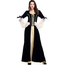Deluxe Quality Women Royal Court Queen Costume Medieval Adult Cosplay Princess Dress Clothing women s costume vintage royal clothing queen cinderella european women s wear retro annual meeting theatre court dress drama