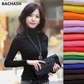 BACHASH 2017 High Elastic quality Fashion Autumn Winter sweater women wool turtleneck pullovers long sleeve plus size women Girl