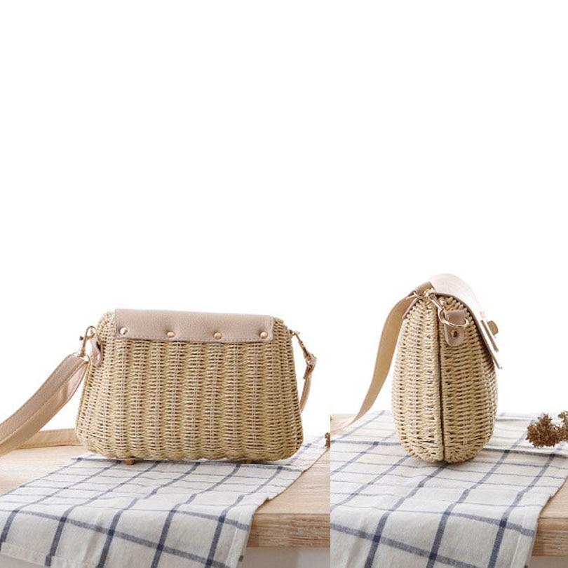 Paglia Borsa Crossbody Crochet Handmade Hollow Bow Spalla Per Di Sacchetto Cestino Borse Brown Brown green Estate Boemia Le Donne Spiaggia Intrecciata light Feminina Out Della a5txT4wTq