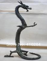 Shipping exquisite bronze tall china dragon statue discount 30%